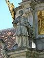 Stift Heiligenkreuz - Dreifaltigkeitssäule Statue Karl.jpg