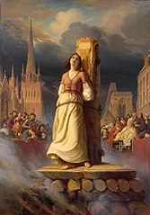 Joan of Arc's Death at the Stake (Right-Hand Part of ''The Life of Joan of Arc'' Triptych)