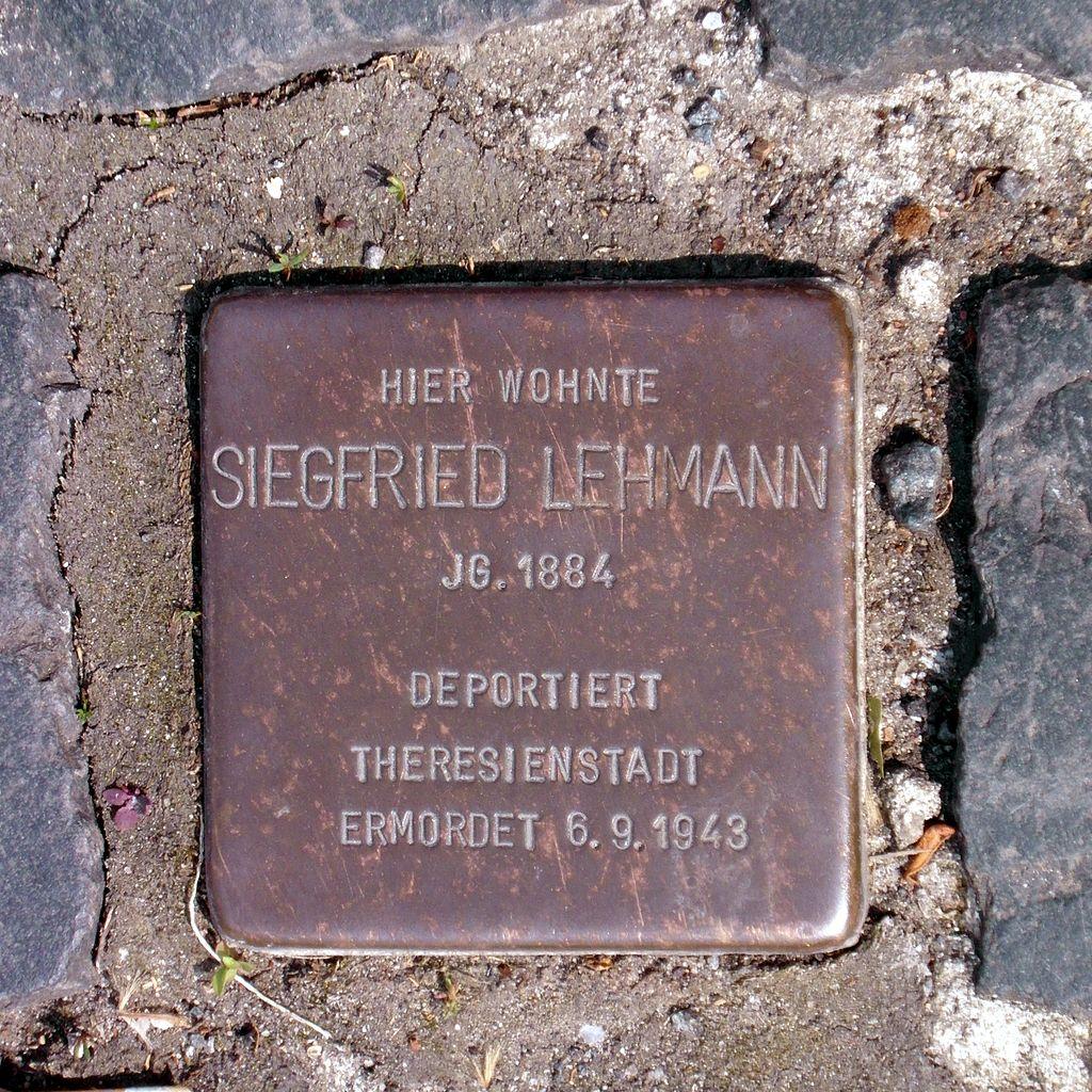 Stolperstein Siegfried Lehmann