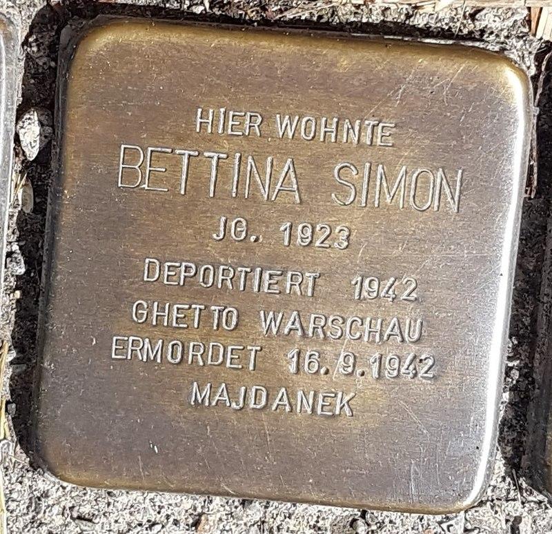 Stolperstein von Bettina Simon