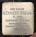 Stolperstein Bundesallee 46 (Wilmd) Alexander Rosenau.jpg