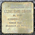 Stolperstein Elias Emil Simon (Gießener Straße 9 Pohl-Göns).jpg