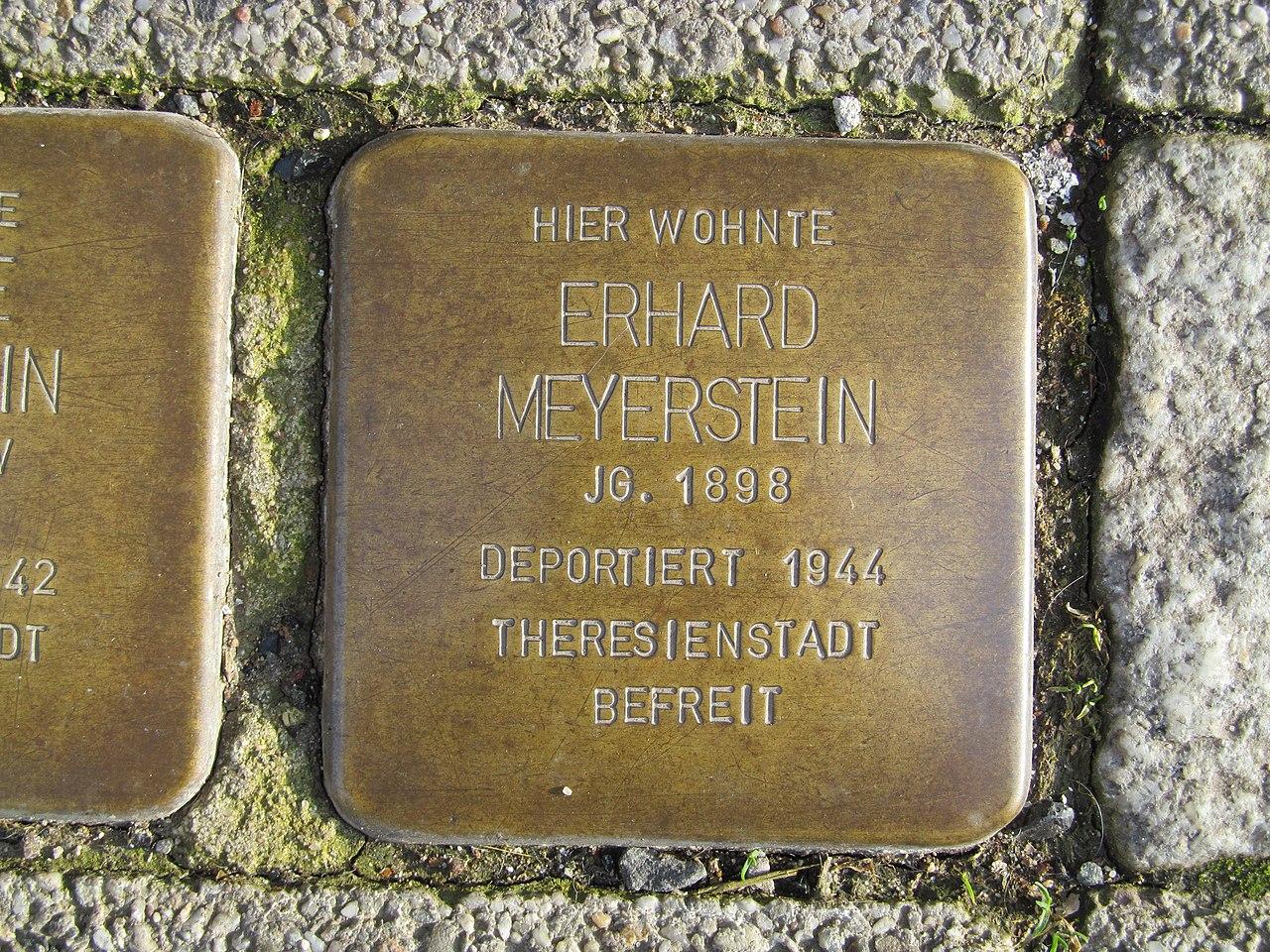 Stolperstein Erhard Meyerstein, 1, Kylische Straße 9, Sangerhausen, Landkreis Mansfeld-Südharz.jpg