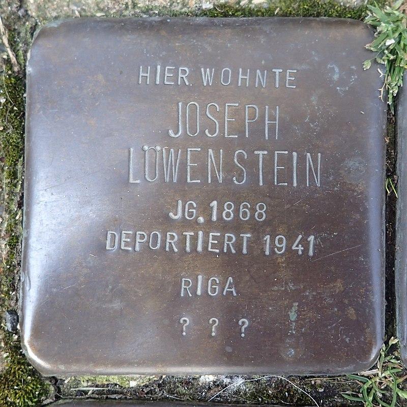 Stolperstein für Joseph Löwenstein