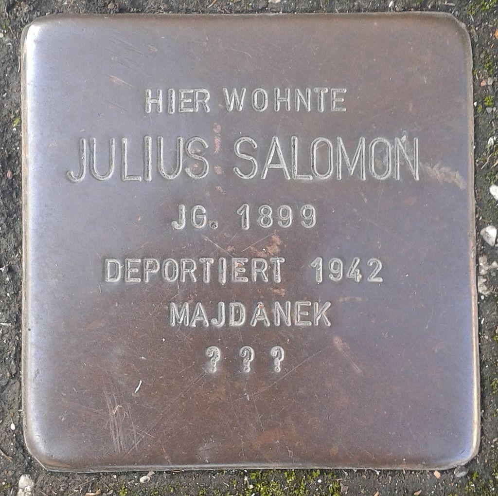 Stolperstein Herborn Austraße 12 Julius Salomon