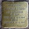 Stolperstein Potsdamer Str 102 (Tierg) Johanna Fromm.jpg