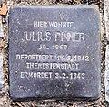 Stolperstein Spichernstr 19 (Wilmd) Julius Pinner.jpg