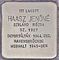 Stolperstein für Jenöne Haasz (Budapest).jpg