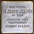 Stolperstein salzburg, Dr. Johann Jellinek (Dreifaltigkeitsgasse 1).jpg
