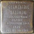 Stumbling block for Clementine Salomon (Im Dau 12)