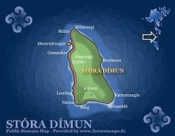 Map of Stóra Dímun