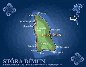 Stóra Dímun - Map of Stóra Dímun
