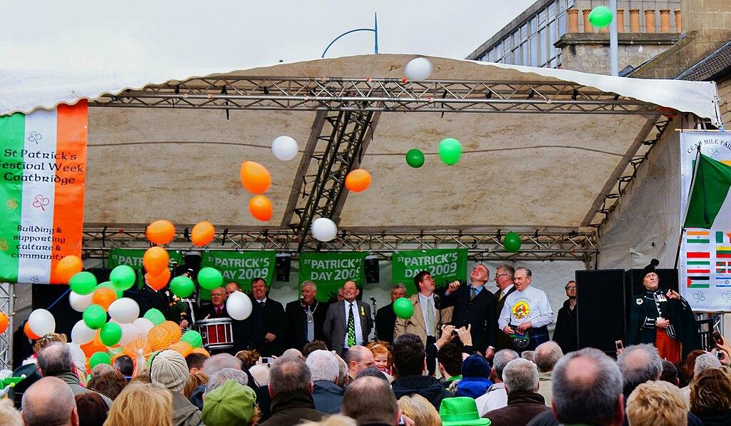2009 St. Patrick's Day festival celebration in Coatbridge, Scotland