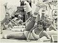 Strandrecreatie aerobic door de jeugd. NL-HlmNHA 54005738.JPG