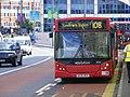 Stratford Bus Station Route 108 AE06 HCH , ED6 Dennis Dart - MCV Evolution. Docklands Buses (7721512192).jpg