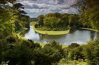 Königlicher Park von Studley mit den Ruinen von Fountains Abbey