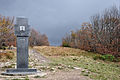 Styk trzech granic, obelisk na Krzemieńcu.JPG