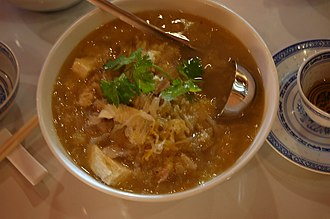 Suan cai - Suan Cai stewed with pork and cellophane noodle is a very common dish in Northeastern China