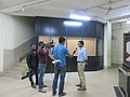 Subhashish Panigrahi being interviewed by Kanak TV, Odia Wikisource Sabha 2014, Bhubaneswar.jpg