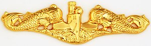 Thomas C. Hart - Image: Submarine Officer badge