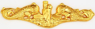 Carlisle Trost - Image: Submarine Officer badge