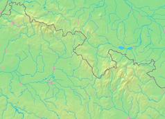Mapa lokalizacyjna Sudetów