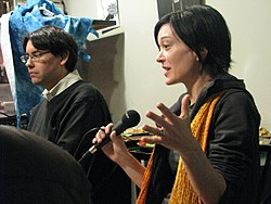 Sue Gardner and Wikipedia editor Simon Pulsifer.jpg