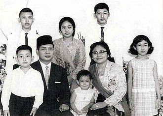 Suharto - Suharto with his wife and six children in 1967.