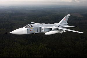 Sukhoi Su-24 - An Su-24 in flight (2009).