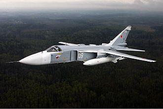 Sukhoi Su-24 - An Su-24 in flight (2009).