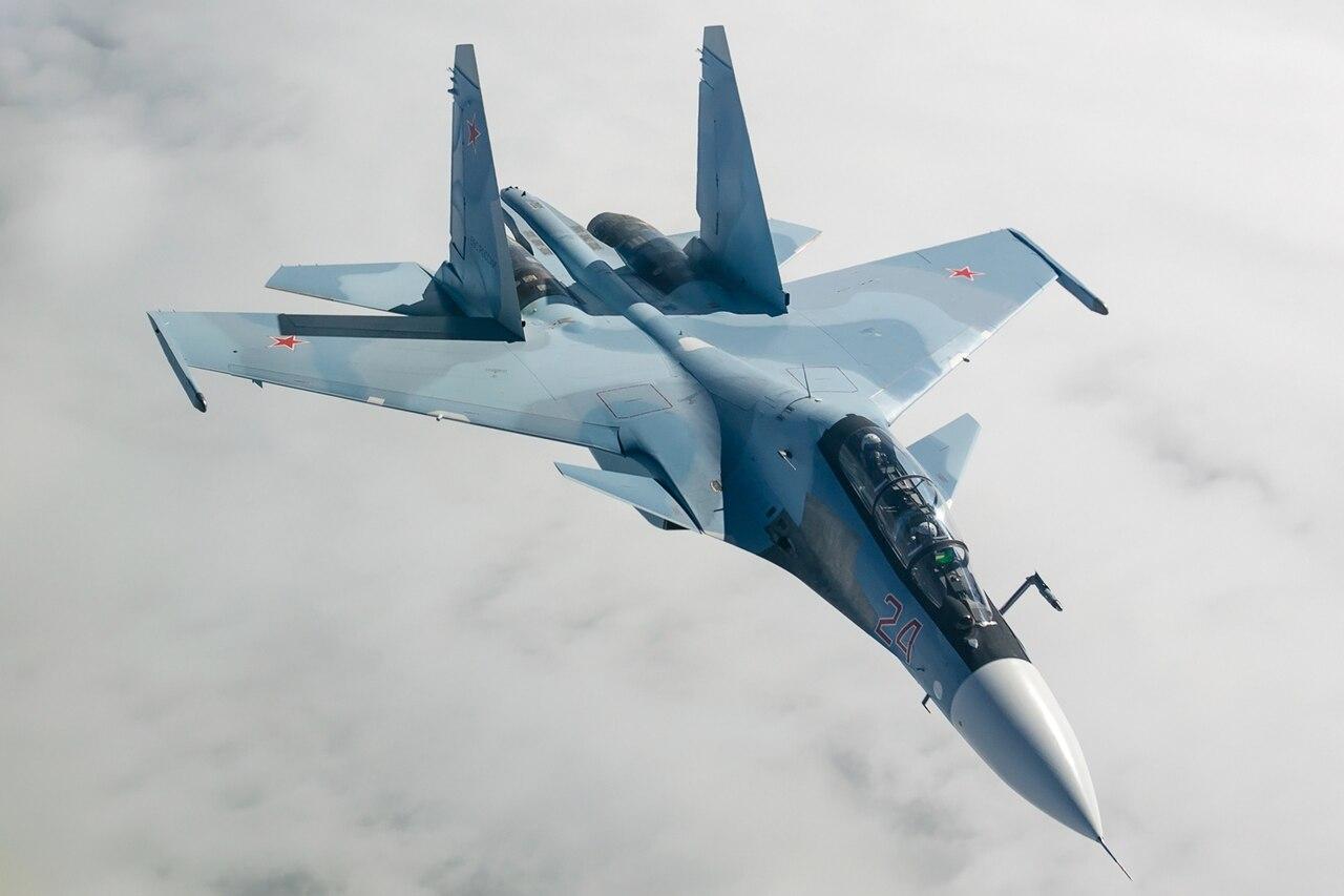 Sukhoi Su-30SM in flight 2014.jpg