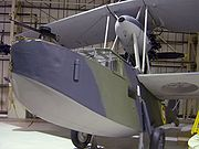 A Supermarine Walrus on display at the RAF Museum in London.