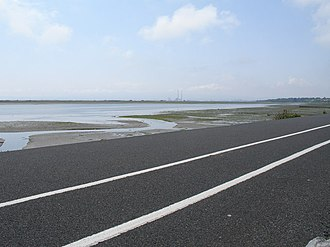 Sutton, Dublin - The cycleway at Sutton works are ongoing to connect it to Sandymount