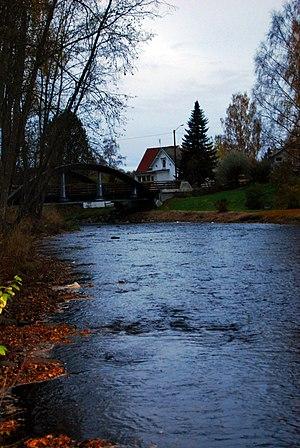 Svartelva - Svartelva. Photo taken near Ilseng.