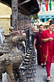 Swayambhunath, Dragon & Prayer Wheels (5202518476).jpg
