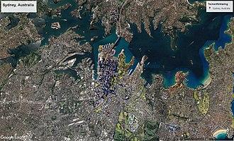 Sydney - Sydney, Australia from space