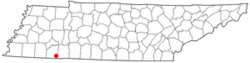 Location of Michie, Tennessee
