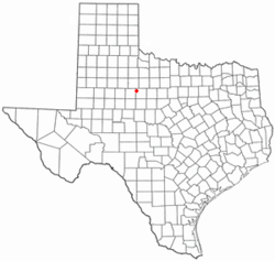 Location of Hamlin, Texas