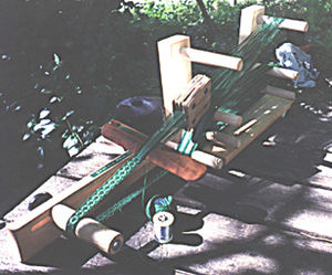Tablet weaving - Image: Tabletweaving basic