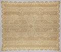 Tafelkleed of sprei van applicatiekant met strepen en bloeiende tak en met witte voering, BK-1979-250-A.jpg