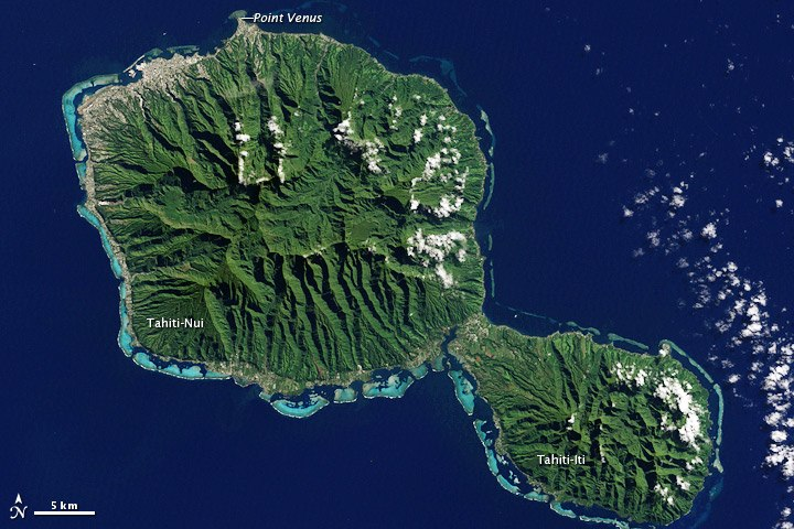 Tahiti, French Polynesia - NASA Earth Observatory
