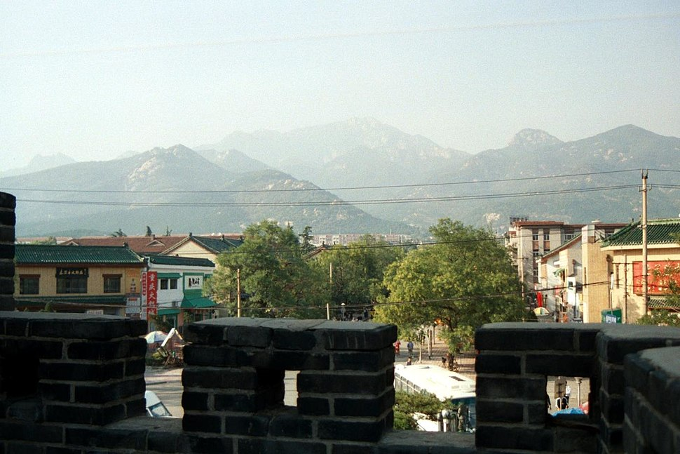 Mount Tai seen across Tai'an