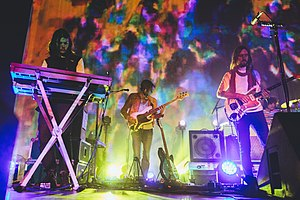 Tame Impala performing in 2014