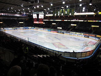 Tampere Ice Stadium - An inside view.