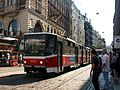 Tatra KT8D5 n°9016 on the line 24 in the city center of Prague.JPG
