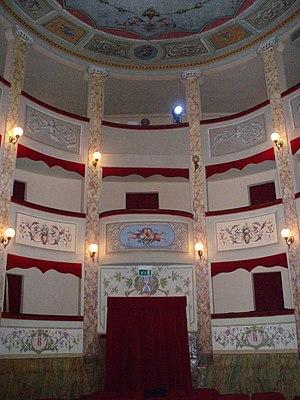 Mario Tiberini - Interior of the Teatro Mario Tiberini in San Lorenzo in Campo