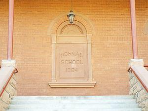 "Old Main (Arizona State University) - Entrance of ""Old Main"" on the campus of Arizona State University in Tempe, Arizona."