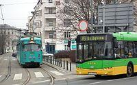 Temporary tram line 22 in Poznan (10).JPG