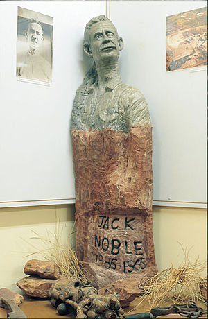 Tennant Creek - Statue of Jack Noble
