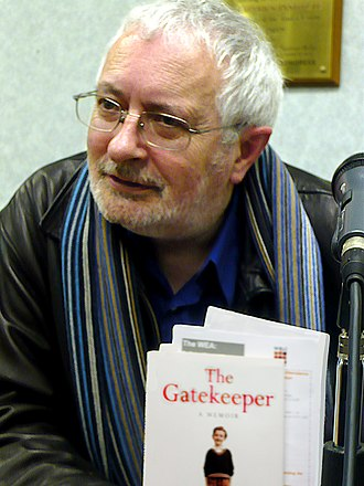 Terry Eagleton - Terry Eagleton holding one of his books after a talk at the Mechanics' Institute, Manchester, in 2008